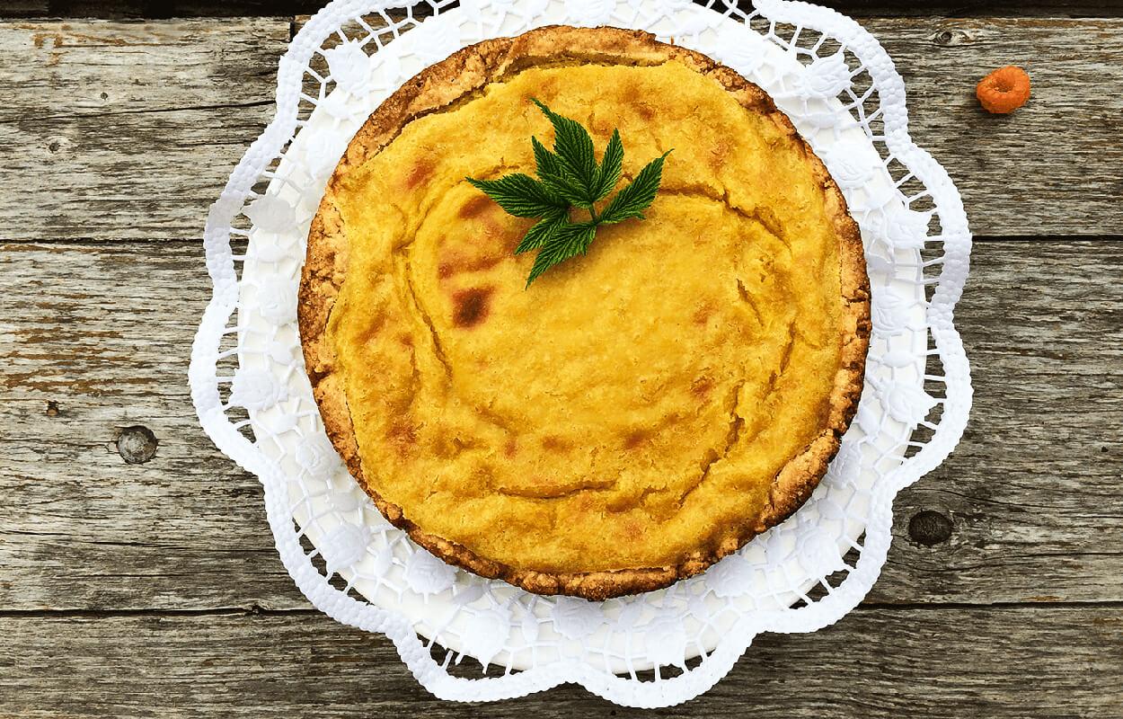 Topfen-Torte vegan